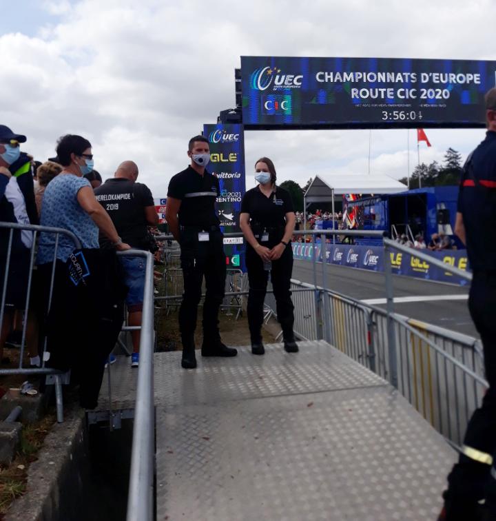 SECURITEAM assure la sécurité du championnat d'Europe de cyclisme à Plouay